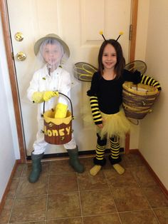 Handmade costumes for brother & sister  Bee Keeper & Honeybee