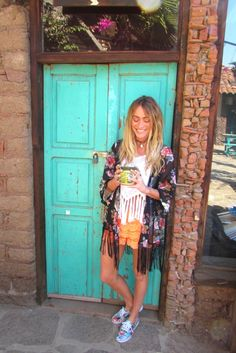 Turquoise Doors and Delicious Coffee in Rosarito Mexico. See the full adventure at www.Isoboho.com.