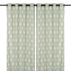 Aqua Vanness Curtain Panel Set, 84 in. | Kirklands