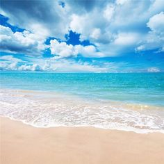 5x7Ft Vinyl Beach Blue Sky Summer Studio Photography Background Photo Backdrop Props