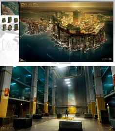 Deus Ex Human Revolution Concept Art, Shanghai
