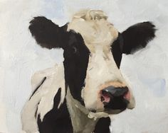 Cow - Art Print - 8 x 10 inches - from original painting by J Coates by JamesCoatesFineArt on Etsy