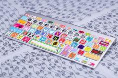 Tastatur Aufkleber für Aufkleber Macbook von freestickersdecal Social-Media Symbol Twitter, Pinterest, Youtube, Facebook, Chrom, Google+, Apple