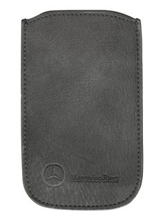 Smartphone sleeve, Women grey, leatherette Part number: Colour: grey Material information: leatherette Smartphone sleeve, suitable for iPhone® grey. Perforated pattern on front. x cm. Iphone 7 Plus, Iphone 4, Portable Apple, Mercedes Benz, Apple Iphone, Embossed Logo, Smartphone, Laptop, Leather