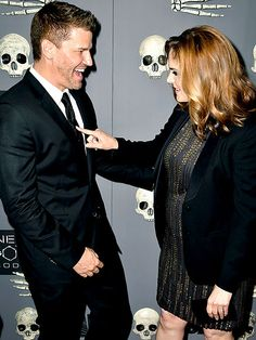 Star Tracks: Tuesday, December 9, 2014 | NO BONES ABOUT IT | Emily Deschanel (who's expecting baby No. 2) and her Bones costar David Boreanaz celebrate the show's 200th episode in L.A. on Monday.