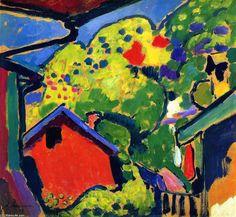 Murnau Landscape, oil on panel Alexej Von Jawlensky Georgewitsch (1864-1941, Russia)