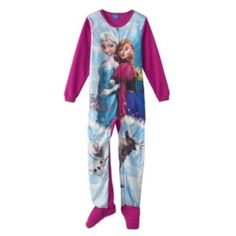 """Disney Frozen """"Sisters Forever"""" Footed Pajamas - Girls"""