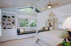 tropical bedroom by Susan J  Moss, ASID