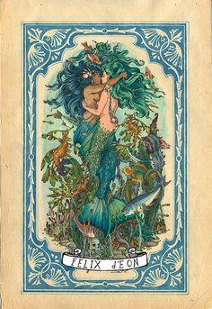 The Sea Princesses Original Felix d'Eon Figure Drawing Gay Queer Lesbian Art LGBT Mermaid Lesbian Art, Gay Art, Vintage Mermaid, Mermaid Art, Mermaid Paintings, Human Figure Drawing, Queer Art, Mermaid Princess, Art Graphique