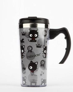 The delightful #Chococat features on this Stainless Steel beverage mug - cute gift idea for a busy Mom