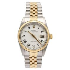 Rolex Vintage Oyster Perpetual Other gold and steel Watches Rolex Watches For Men, Luxury Watches, Rolex Models, Pre Owned Rolex, Rolex Oyster Perpetual, Vintage Rolex, Oysters, Gold Watch, Steel