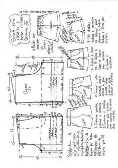 Elastic waist shorts pattern by Marlene Mukai Dress Sewing Patterns, Sewing Patterns Free, Sewing Tutorials, Clothing Patterns, Sewing Shorts, Sewing Clothes, Diy Clothes, Costura Diy, E 38