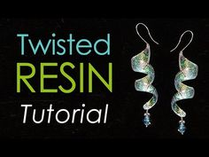 Twisted Resin Jewelry and Ornaments, Free Tutorial - Little Windows Brilliant Resin and Supplies