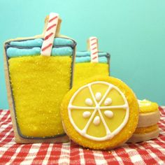 Lemonade cookies- Had to put these on here... Such a cute idea for your kids lemonade stand or a summer party treat idea..