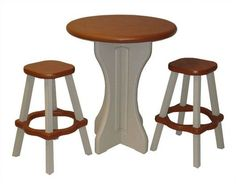 3 Piece Patio Pub Table with Stools