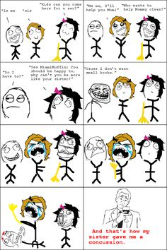 My sister is a little scary. Rage Comics !
