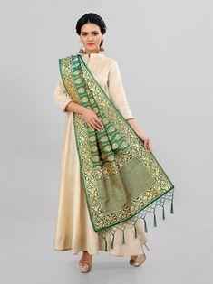 Mrigya clothing launching banarasi dupptta concept of traditional dupptta Silk Anarkali Suits, Silk Dupatta, Saree Dress, Indian Fashion, Beautiful Dresses, Kimono Top, Product Launch, Fancy, Traditional