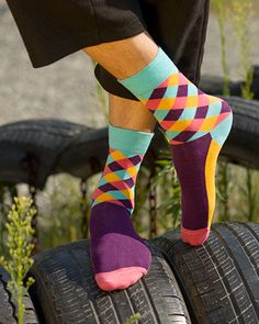 Colorful Men Cotton Socks