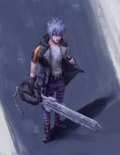 misschibidoodle: Riku - Kingdom Hearts 3. Ive been on a bit of a KH hype recently and Im really digging Rikus new outfit. Also contrary to popular opinion I also like his new keyblade. Ah Im just so excited for this game. Anyone with me? XD Instagram Store