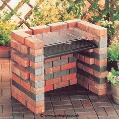Cocina al aire libre construido en Parrilla de carbón Ideas de Diseño