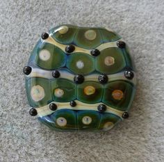 """Pulsating Pods"" JC Herrell SRA Handmade Glass Lampwork Bead, 39 x 38 mm #Lampwork"
