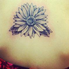 Black and Gray Sunflower tattoo  Done in Savannah, GA