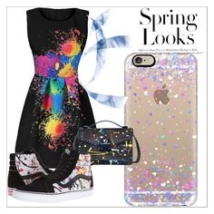 """""""Painty Outfit"""" by sanslover24 ❤ liked on Polyvore featuring Casetify, Loeffler Randall, Vans and H&M"""