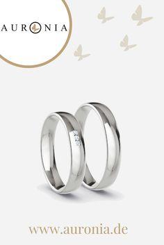 #Eheringe, 925 Silber, 3 x Brillant G-VS 0,010 ct