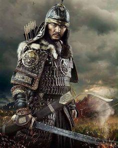 """""""Bastığında toprak titreyecek ki vurduğunda düşman kalkamasın..!!! Asian History, Golden Horde, Chinese Armor, Genghis Khan, Warrior Spirit, Barbarian, Armures, Martial, Character Art"""