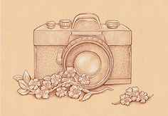 Preview for How to Draw a Vintage Camera With Sepia Ink Liners on Toned Paper. I'd love to just look off of this and draw it!!
