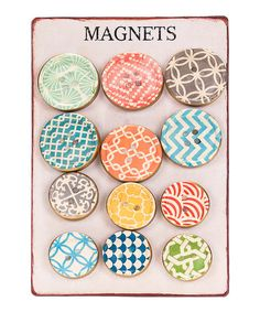 Resin Button Magnet - Set of 12   zulily