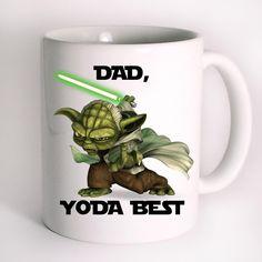Dad Yoda Best Cute Funny Star Wars Mug Design