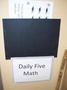 Daily 5 Maths Idea