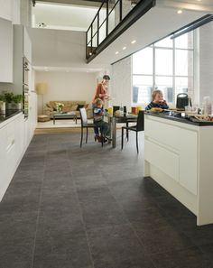 Quickstep Laminate Flooring Slate Dark Exquisa Exq1552