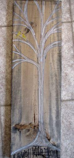 I love white trees in art.