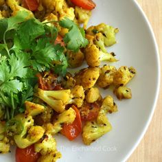 Vegan, Vegetarian, Paleo - this tasty Indian-inspired dish is easily adapted:  Golden Curried Cauli