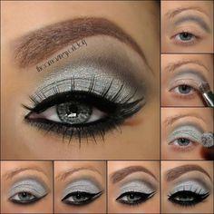 Blue Eye Makeup, Eye Makeup Tips, Makeup Eyeshadow, Blonde Makeup, Blonde Hair, Cream Eyeshadow, Glitter Eyeshadow, Makeup Brushes, Hair Makeup