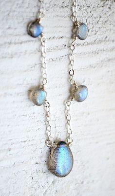 Labradorite necklace sterling silver, labradorite jewelry, gray stone necklace, Lehu uila