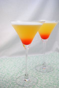 Bikini Martini Makes 2 large martinis. 4 oz coconut rum 3 oz vodka 4 oz pineapple juice 2 dashes grenadine Directions: Combine rum, vodka and pineapple juice in a drink shaker. Shake firmly until frothy. Pour in a martini glass, add a touch of grenadine. Fancy Drinks, Cocktail Drinks, Cocktail Recipes, Martini Recipes, Malibu Drinks, Drink Recipes, Refreshing Drinks, Summer Drinks, Vodka And Pineapple Juice