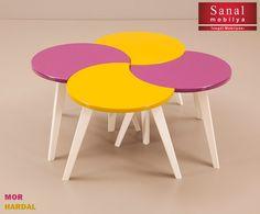 Sunday Orta Sehpa & Yan Sehpa Mor - Hardal Deco Furniture, Table, Home Decor, Homemade Home Decor, Mesas, Desk, Decoration Home, Tabletop, Desks