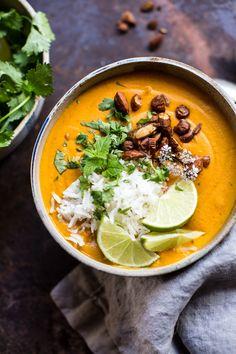 Creamy Thai Carrot Sweet Potato Soup   halfbakedharvest.com @Half Baked Harvest