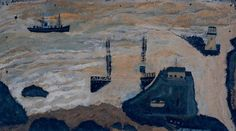 Alfred Wallis, 'Wreck of the Alba' c.1938-9