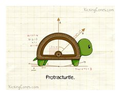 Protracturtle 8 x 10 Digital Print Signed by KickingCones on Etsy
