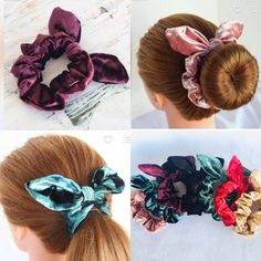 XMAS Girls//Ladies Red//White Velvet Elasticated Hair Scrunchie With Fur Trim 12cm