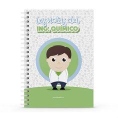 Cuaderno XL - Las notas del ingeniero químico, encuentra este producto en nuestra tienda online y personalízalo con un nombre. Notebook, Cover, Dietitian, Notebooks, Report Cards, Day Planners, The Notebook, Exercise Book