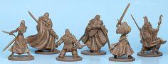 final plastic production samples of the Zombicide: Black Plague miniatures. First, our noble Survivors
