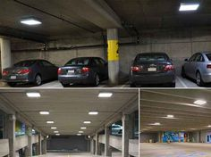 HITECNICO LED Canopy Lights Surface Mounted applied for garage lighting.