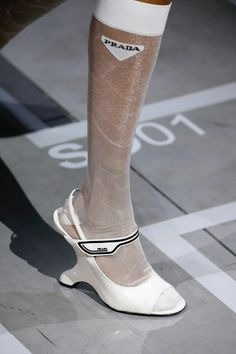Prada Spring 2019 Ready-to-Wear Fashion Show Details: See detail photos for Prada Spring 2019 Ready-to-Wear collection. Look 125 Sock Shoes, Shoe Boots, Shoes Sandals, Versace, Fashion Shoes, Fashion Accessories, Dior, Runway Shoes, Prada Spring