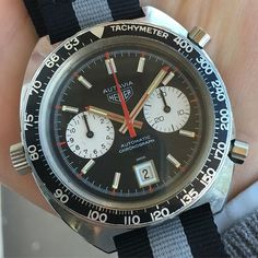 """REPOST!!!  Awesome Heuer Autavia """"Viceroy"""" Chronograph will be tomorrow in shop . Available at www.watch-box.de and Chrono24 #watches #collectors #instawatch #vintage #rare #heuer #autavia #racing #valjoux #watchhistory #1970s #chronograph #classic #w"""