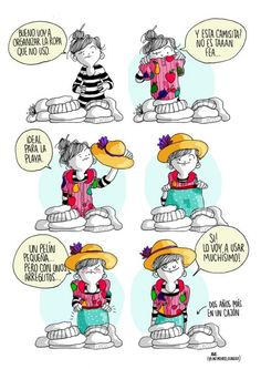 A Girl's Life Presented By 20 Funny Comics Funny Cute, Hilarious, Spanish Humor, Funny Times, Humor Grafico, Illustrations, Girls Life, Bored Panda, Cute Illustration